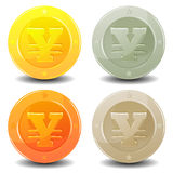 Yen Coins Set Royalty Free Stock Image