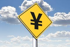 YEN - conceptual roadsign... Stock Images