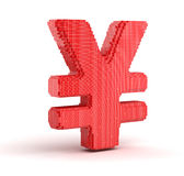 Yen from cubes Royalty Free Stock Image