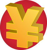 Yen currency. Japanese yen Currency symbol isometric illustration 3d Stock Photos