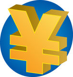 Yen currency. Japanese yen Currency symbol isometric illustration 3d Royalty Free Stock Photo