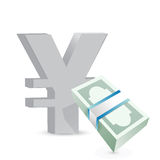 Yen currency bills exchange concept Stock Photo