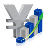 Yen currency icon style Royalty Free Stock Image