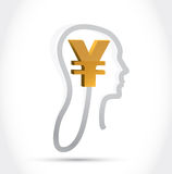 Yen currency on my mind illustration design Royalty Free Stock Images
