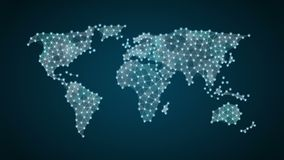 Yen currency sign makes global world map, internet of things. financial technology. Currency sign makes global world map, internet of things stock video footage