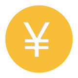 Yen currency symbol icon. Image,  illustration Royalty Free Stock Photo