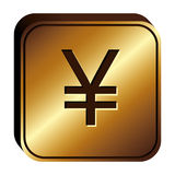 Yen currency symbol icon Stock Images