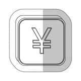 Yen currency symbol icon Stock Image