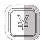 Yen currency symbol icon. Image,  illustration Stock Image