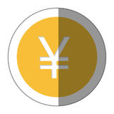 Yen currency symbol icon. Image,  illustration Royalty Free Stock Photography