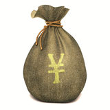 Yen della borsa Fotografia Stock Libera da Diritti