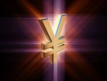 Yen di valuta di simbolo Fotografia Stock Libera da Diritti
