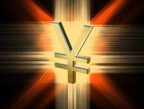 Yen di valuta di simbolo Fotografia Stock