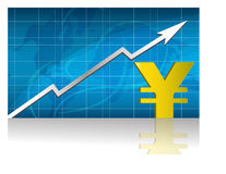 Yen Exchange / Vector. Yen currency trading graph. vector file available Stock Images