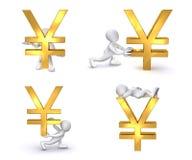 yen för human 3d royaltyfri illustrationer