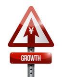 Yen growth sign illustration design Royalty Free Stock Photo