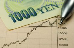 Yen Investing Royalty Free Stock Photo