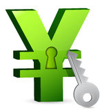 Yen lock and key Stock Image