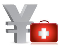 Yen and medical kit Royalty Free Stock Photography