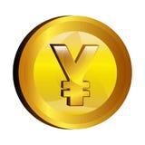 Yen money gold icon Royalty Free Stock Image
