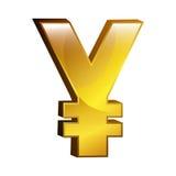 Yen money gold icon Stock Photos