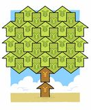 Yen money tree Royalty Free Stock Photos
