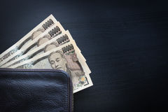Yen notes  money concept background Closeup of Japanese currency. Yen bank Stock Image
