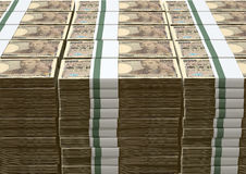 Yen Notes Pile Stock Photo