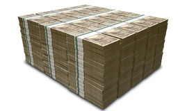Yen Notes Pile Royalty Free Stock Images