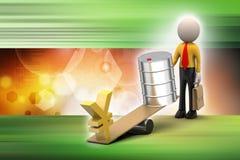 Yen och olja kan balansera Royaltyfria Bilder