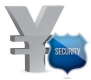 Yen protected concept illustration design. Over white Royalty Free Stock Photography