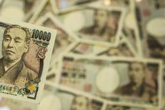 10000 yen räkning Royaltyfria Bilder
