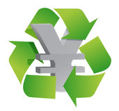 Yen recycle Royalty Free Stock Photography