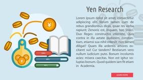 Yen Research Conceptual Banner Foto de archivo libre de regalías