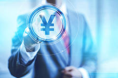 Yen sign concept Stock Image