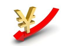 Yen Sign Down Arrow Royalty Free Stock Photos