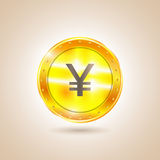 Yen soldi della moneta Illustrazione di vettore Fotografia Stock