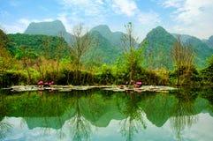Yen stream on the way to Huong pagoda in autumn, Hanoi, Vietnam. Vietnam landscapes. Stock Photography