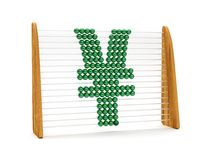 Yen symbol in an abacus Royalty Free Stock Photo