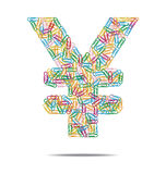 Yen symbol clips Royalty Free Stock Images