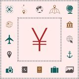 Yen symbol icon . Elements for your design royalty free illustration