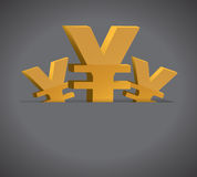 Yen symbols and pocket illustration design Royalty Free Stock Photos