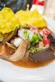 Yen Ta Fo, sopa de fideos tailandesa de los mariscos del estilo Fotografía de archivo libre de regalías