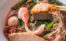 Yen Ta Fo, zu Fu-Nudel in Thailand Lizenzfreies Stockbild
