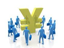 Yen-Versammlung lizenzfreie abbildung