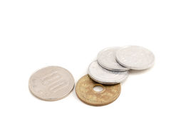 108 yenes, imposición fiscal del 8% en moneda japonesa Imagenes de archivo