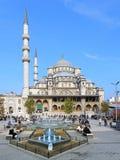 Yeni清真寺(新的清真寺)在伊斯坦布尔,土耳其 免版税库存图片