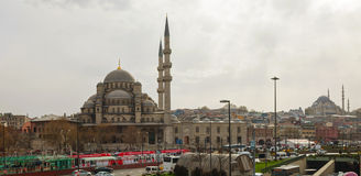 Yeni Cami (新的清真寺)在伊斯坦布尔 库存图片