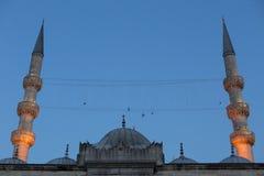 Yeni Cami an der Dämmerung, Istanbul, die Türkei Lizenzfreies Stockfoto