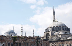 Yeni Cami. The Yeni Cami (mosque) facing southwest stock image